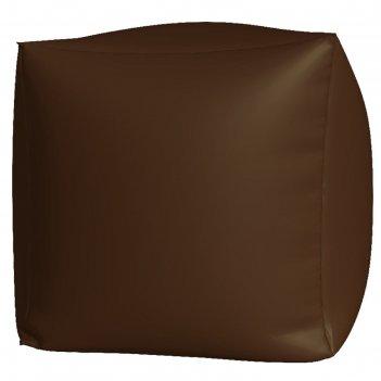 Пуфик куб макси, ткань нейлон, цвет коричневый