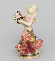 Jp-12/19 фигурка девушка с цветами (pavone)