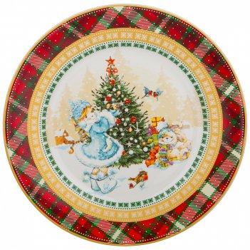 Тарелка закусочная lefard снегурочка 21 см (кор=18шт.)
