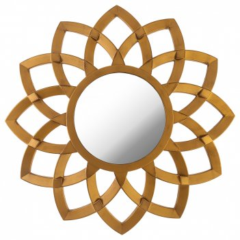 Зеркало настенное swiss home диаметр=76 см цвет: золото (кор=4шт.)