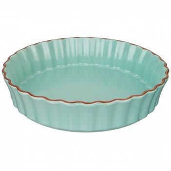Форма для выпечки agness modern kitchen круглая лазурная 28*28*6 см