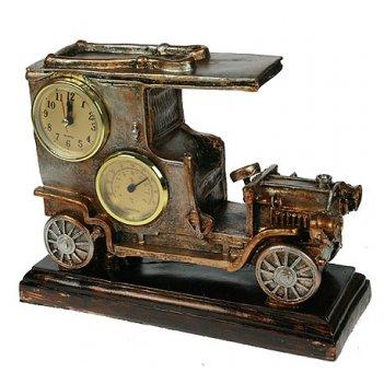 Часы-барометр автомобиль настольные 26*20*10см
