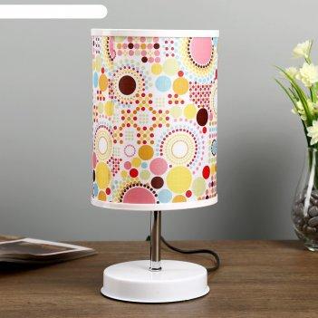Лампа настольная авейро 1х40вт е27 220в белый 14х14х30 см.