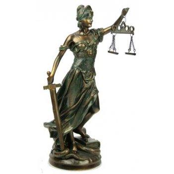 Статуэтка греческая богиня правосудия - фемида 32см полистоун