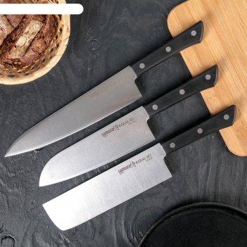 Набор ножей samura harakiri, 5 шт: лезвие 10/15/16.1/17.5/20 см, цвет чёрн