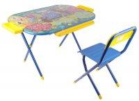 Набор детской мебели всезнайка. маугли складной: стол, стул и пенал, цвет