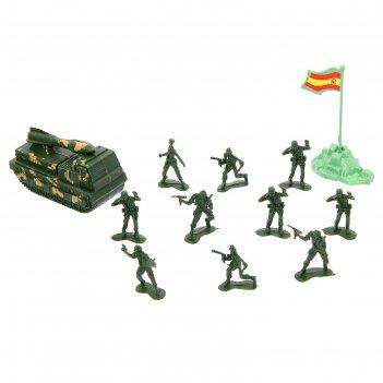 Набор солдатиков армия, с аксессуарами, техникой
