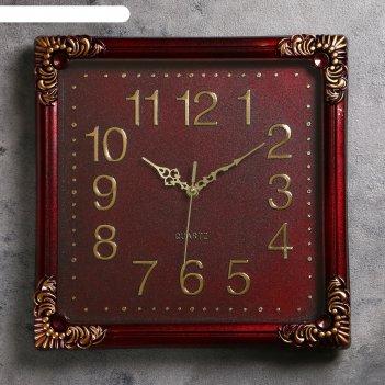Часы настенные черные квадрат в стиле ампир 35*35 см