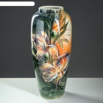 Ваза напольная форма дана цветы