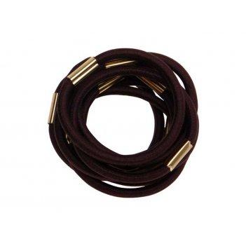 Резинки для волос коричн, maxi (10 шт)