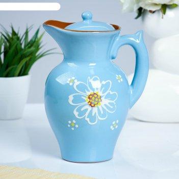 Кувшин для напитков 2,1 л дачный, цвет голубой
