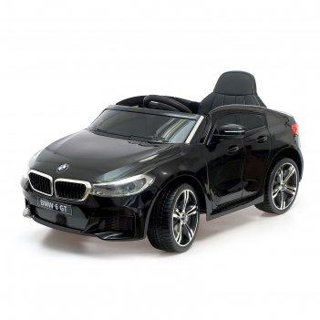 Электромобиль bmw 6 series gt, окраска черный, eva колеса, кожаное сидение