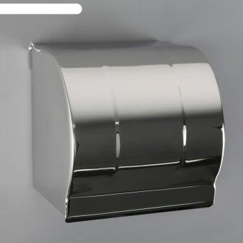 Держатель для туалетной бумаги 12х12,5х12 см без втулки зеркальный