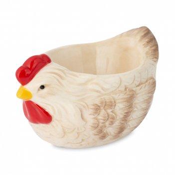 Подставка для яиц, размер: 6,3 х 5 см, материал: доломит, цвет: декор, сер
