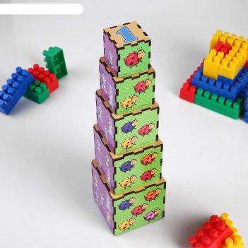 Кубики-пирамидки животные