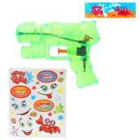 Пистолет водный пушка с эксклюзивными наклейками, цвета микс