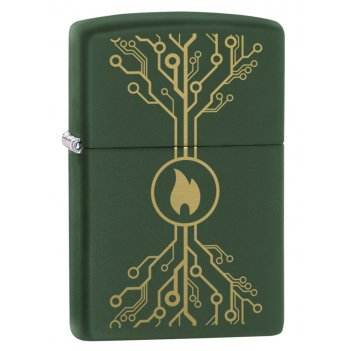 Зажигалка zippo classic с покрытием moss green matte, латунь/сталь, зелёна