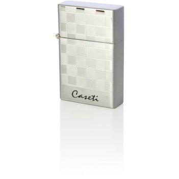 """Зажигалка """"caseti"""" газовая турбо, сплав цинка, цвет хром в шашку"""