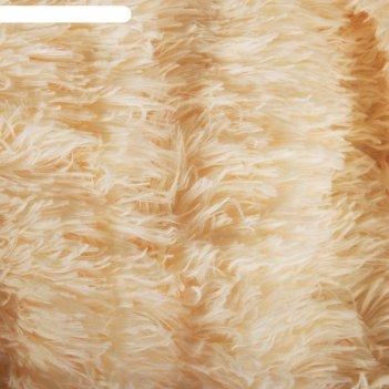 Плед мех шиншилла двухсторонний, 240х220 см, персик