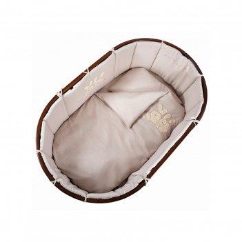 Комплект в кроватку leprotti, 6 предметов, цвет кофейный