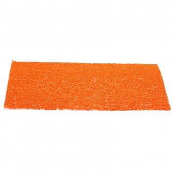 Подставка под горячие, полимер, декор губка, цвет оранжевый, 30 х 45 см