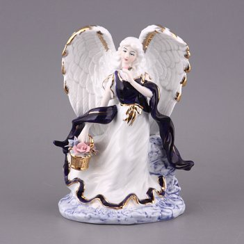 Фигурка ангел с букетом высота=20 см крас.карт.у...