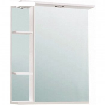 Шкаф-зеркало нарцисс 500 правый, белый, без подсветки арт.9923