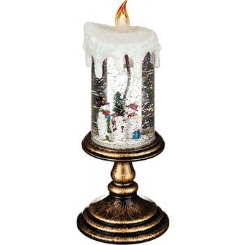 Фигурка с подсветкой свеча диаметр=11 см высота=27 см (кор=24шт.)
