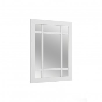 Зеркало настенное зн-12 ривьера 800х600 пвх белый