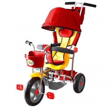 Л001 3-х колесный велосипед galaxy лучик с капюшоном красный