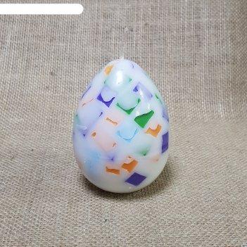 Свеча яйцо мозаика 6,5х9,5
