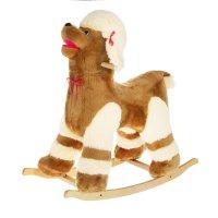 Мягкая игрушка-качалка собака: пудель гладкий цвета микс