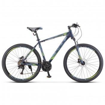 Велосипед 27,5 stels navigator-720 d, v010, цвет темно-синий, размер 19