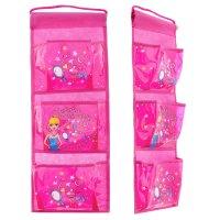 Кармашки на стену тысяча мелочей (3 отделения), цвет розовый