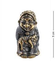 Am-1001 фигурка колокольчик-бабуля (латунь, янтарь)