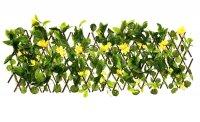Декоративное ограждение гибискус желтый 210x25 см