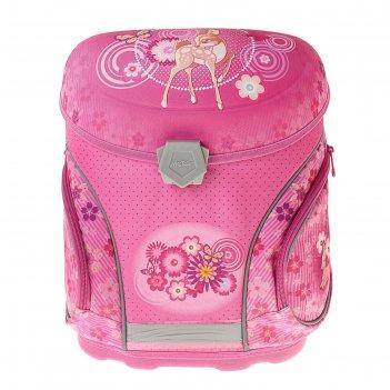 Ранец на замке mag taller j-flex, 38 х 32 х 23, fawn, розовый