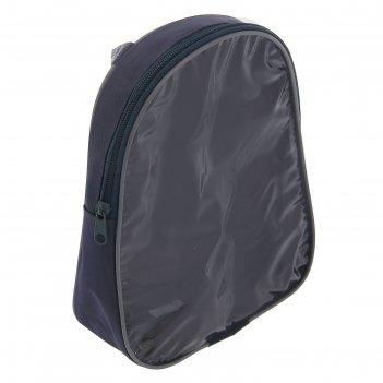 Косметичка на молнии сумка с ручкой, 1 отдел, серая