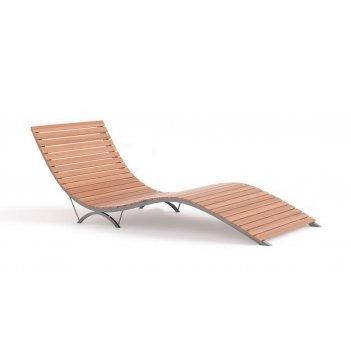 Парковый лежак 3 03, лиственница/сосна, сталь, 245х70см