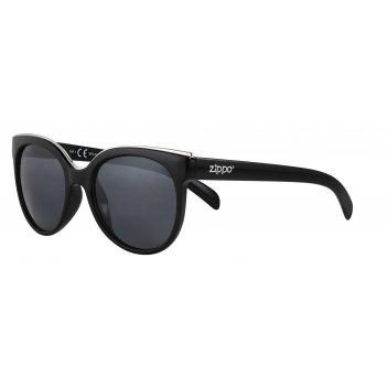 Очки солнцезащитные zippo, женские, чёрные, оправа, линзы и дужки из полик