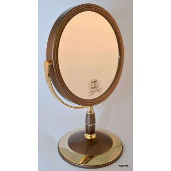 Зеркало b7 808 brz/g bronze&gold наст. кругл. 2-стор. 5-кр.у
