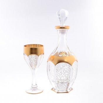 Набор для вина 7 предметов сафари bohemia gold