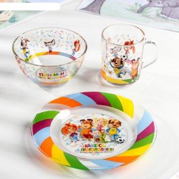 Набор посуды детский «барбоскины», 3 предмета