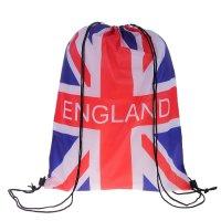 Рюкзак-мешок для обуви england, шнурок, цвет синий/белый/красный