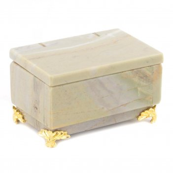 Шкатулка офиокальцит 90х60х55 мм 400 гр.