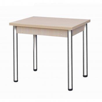 Стол поворотно-откидной «пируэт», 800(1200) x 600 x 750 мм, опора хром, цв