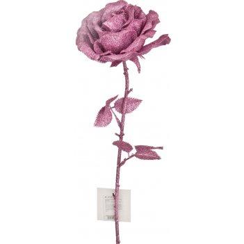Изделие декоративное роза длина=68 см. розовый без упаковки (кор=100шт.)