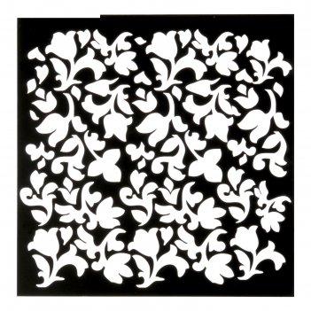 Трафарет для творчества «цветы», 15 х 15 см