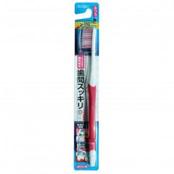 Зубная щетка ebisu с прорезиненной ручкой и утонченными кончиками. средняя
