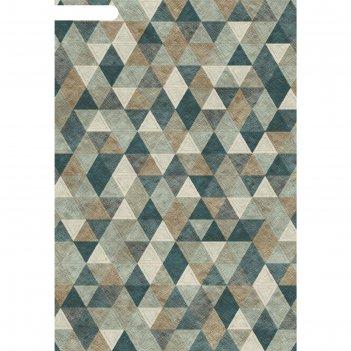 Ковёр хит-сет пп matrix d578, 0,8*1,5 м, прямоугольный, gray-blue